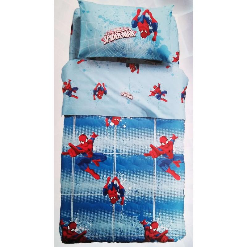 Copriletto Trapuntato Caleffi Disney.Caleffi Trapuntino Copriletto Trapuntato 1 Piazza Letto Singolo Spiderman Power Disney