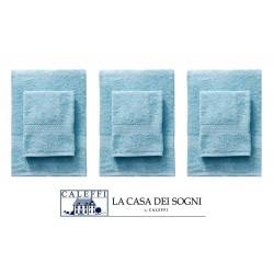 Caleffi - SET 3+3 ASCIUGAMANI E OSPITE FESTA DEL BIANCO CALEFFI VARI COLORI