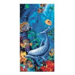SEAMAR - Telo Mare in Spugna di Cotone 86x160 Fantasie Animali