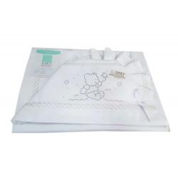 COMPLETO 3 PEZZI LENZUOLA PER lettino Colore Bianco