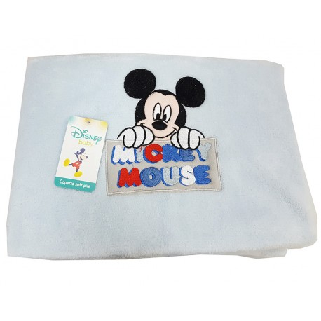 Copertina Plaid in Pile CM 75x100 Walt Disney Topolino e Minnie